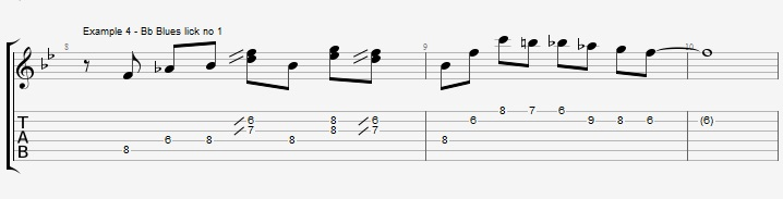 5 Bb Jazz Blues licks - ex 4
