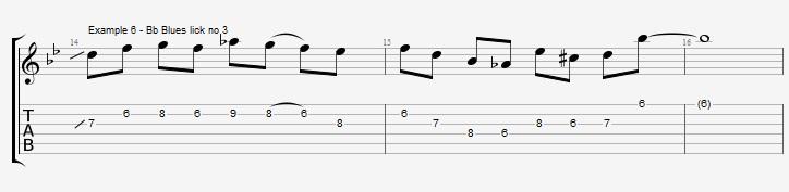 5 Bb Jazz Blues licks - ex 6