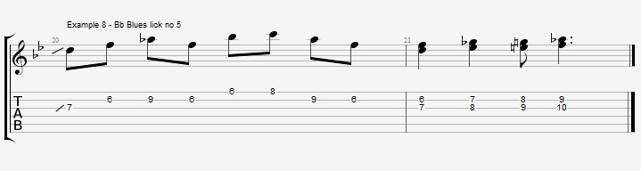 5 Bb Jazz Blues licks - ex 8