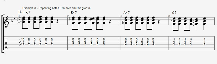 Making Jazz Chords sound Bluesy ex 3