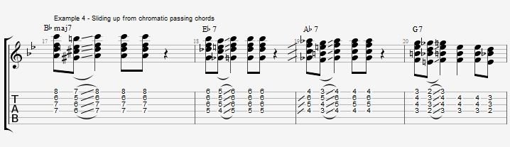Making Jazz Chords sound Bluesy ex 4