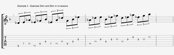 Triad pairs in the altered scale - ex 3