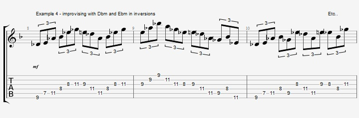 Triad pairs in the altered scale - ex 4
