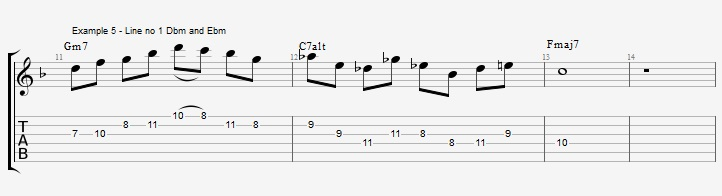 Triad pairs in the altered scale - ex 5
