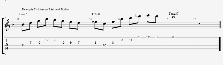 Triad pairs in the altered scale - ex 7
