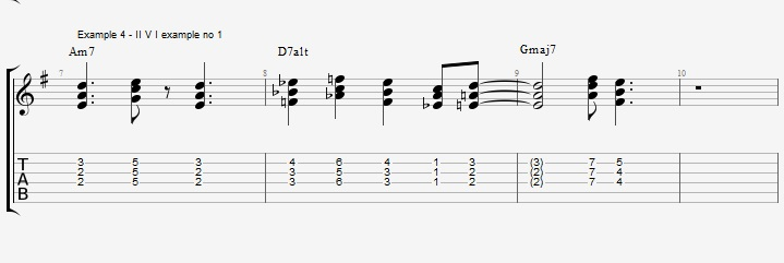 Using the pentatonic scale as chords - ex 4