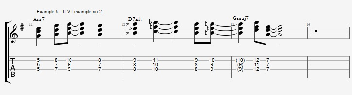 Using the pentatonic scale as chords - ex 5