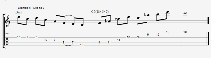 Triads of the Diminished scale - part 1 - ex 6