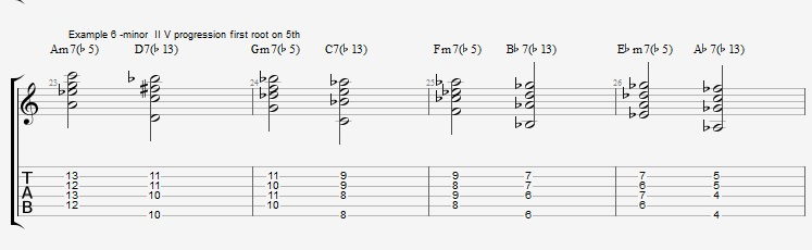 How to play Jazz Chords on Guitar - ex 6