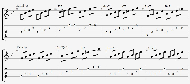 Autumn Leaves - Soloing with arpeggios - Jens Larsen