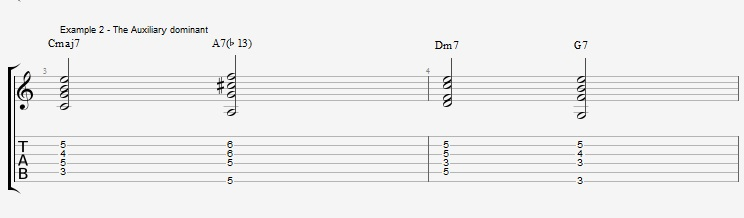 Jazz Chords 10 variations of a I VI II V turnaround - ex 2