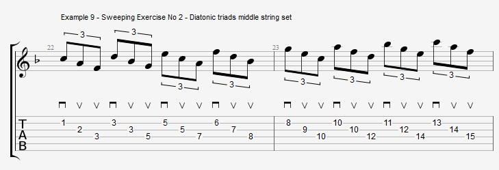 Sweep Picking Cascading Arpeggios - Upper-structure Chords