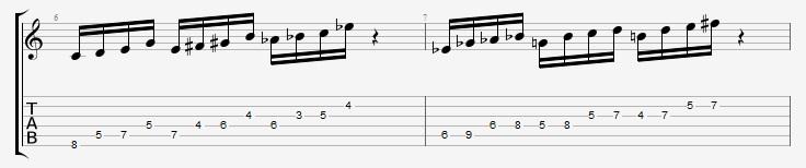 Messiaen 4th Mode Ex 3