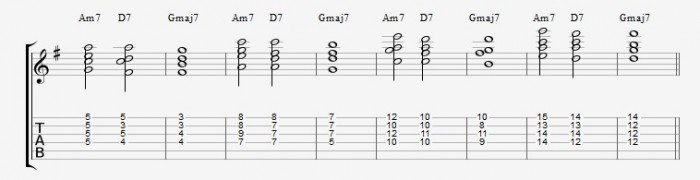 Jazz Chord Essentials - Drop2 part 1- ex 3