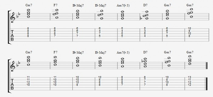 Jazz Chord Essentials - Drop2 part 1- ex 4