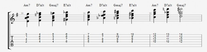 Drop 2 voicings part 2 - ex 4