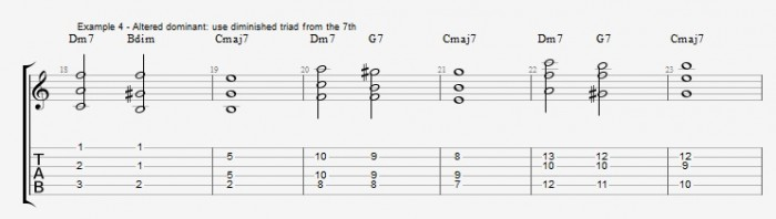 Jazz Chord Essentials - Open Triads Ex 4