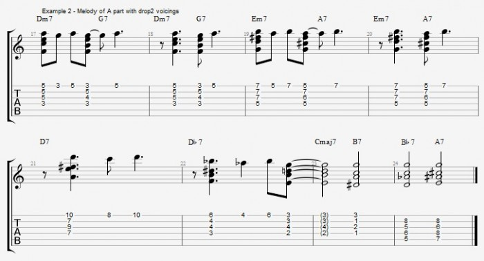 Chord Melody for Guitar - part 1 ex 3