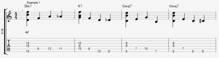Chords and Walking Bass lines - part 1 - Ex 1