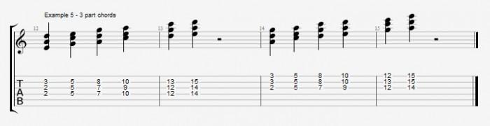 Diatonic chords in pentatonic scales ex 5