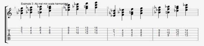 Jazz Chord Essentials - 3 part Quartal Harmony Ex 3