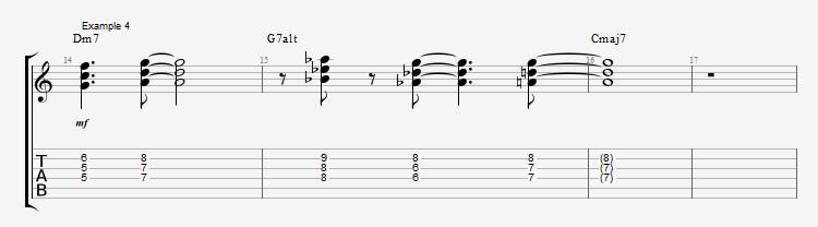 Jazz Chord Essentials - 3 part Quartal Harmony Ex 4