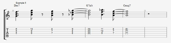 Jazz Chord Essentials - 3 part Quartal Harmony Ex 5