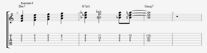 Jazz Chord Essentials - 3 part Quartal Harmony Ex 6