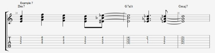 Jazz Chord Essentials - 3 part Quartal Harmony Ex 7