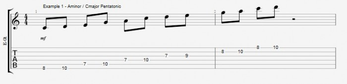 Pentatonics part 1 - Maj7 Chords Ex 1