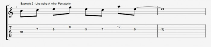 Pentatonics part 1 - Maj7 Chords Ex 2