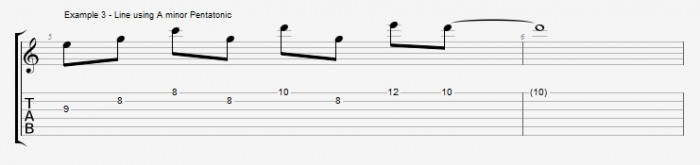 Pentatonics part 1 - Maj7 Chords Ex 3
