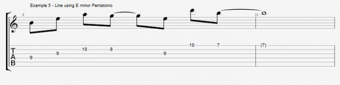 Pentatonics part 1 - Maj7 Chords Ex 5