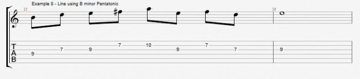 Pentatonics part 1 - Maj7 Chords Ex 8