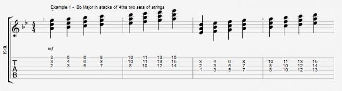 Quartal Harmony in Solos ex 1
