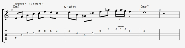 Diminished Scale on Dom7th Chords ex 4