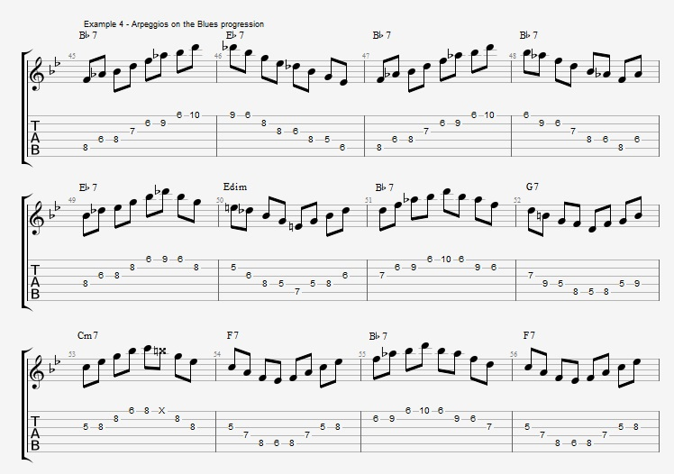 Jazz Blues Soloing - example 4
