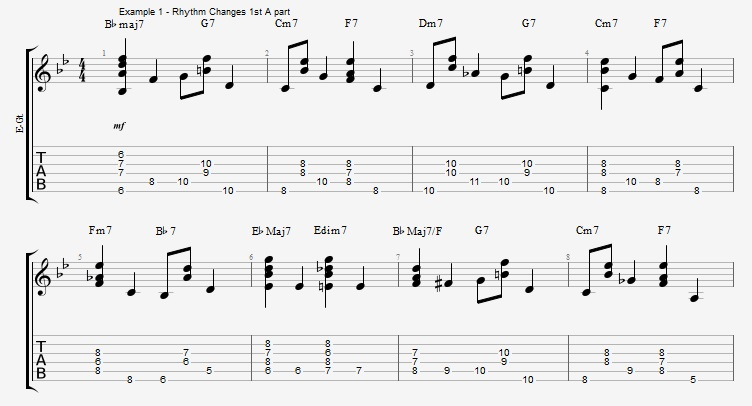 Chords and Walking Bass lines - part 2 - ex 1