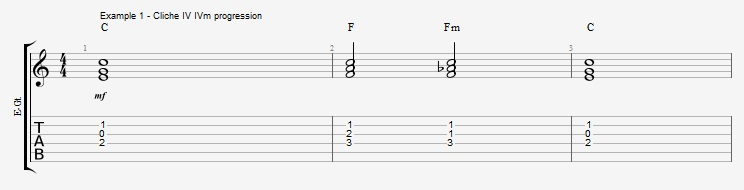 IV minor chords ex 1