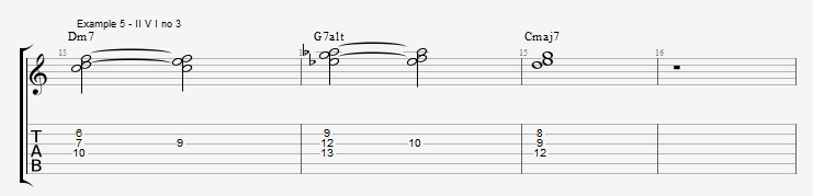 Jazz Chord Essentials - 3 note 7th chords part 1 ex 5
