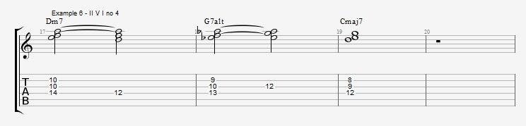 Jazz Chord Essentials - 3 note 7th chords part 1 ex 6