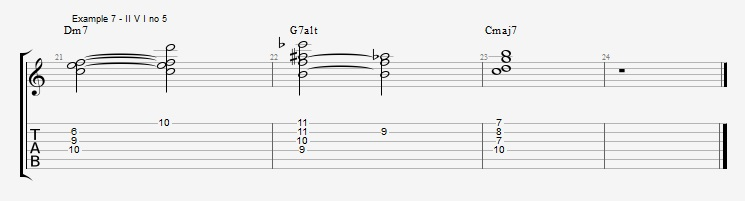 Jazz Chord Essentials - 3 note 7th chords part 1 ex 7