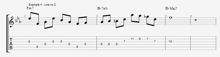 Shell Voicings as Arpeggios - ex 4