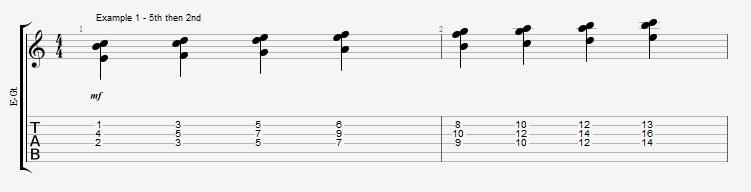Jazz Chord Essentials - 3 note 7th chords part 2 - ex 1