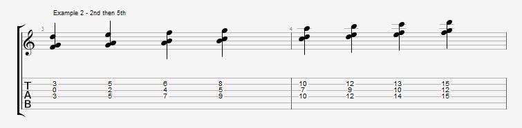 Jazz Chord Essentials - 3 note 7th chords part 2 - ex 2