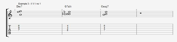 Jazz Chord Essentials - 3 note 7th chords part 2 - ex 3