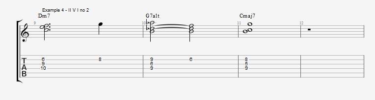 Jazz Chord Essentials - 3 note 7th chords part 2 - ex 4