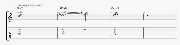 Jazz Chord Essentials - 3 note 7th chords part 2 - ex 5
