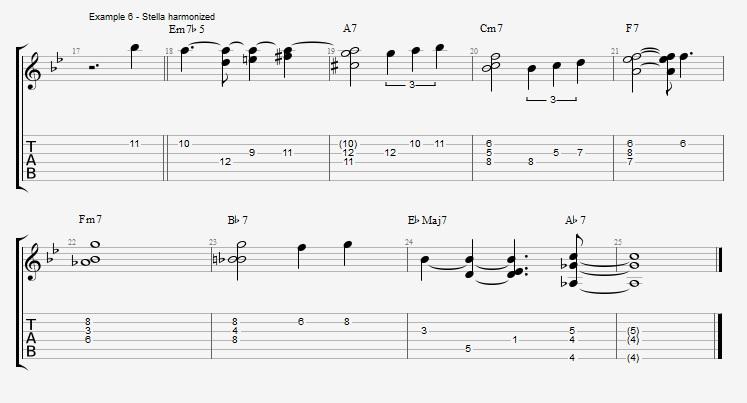 Jazz Chord Essentials - 3 note 7th chords part 2 - ex 6