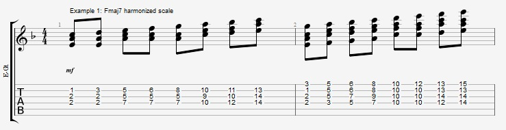 Soloing with Chords Part 1 ex 1